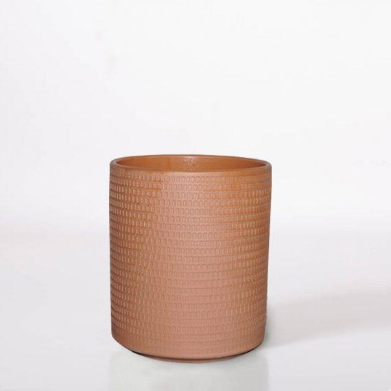 Vaso in Terracotta lavorato H 15 D 11,5