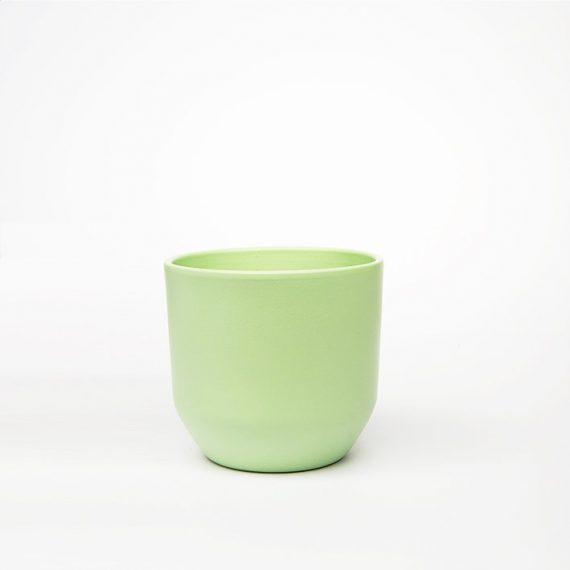 Vaso verde Opaco Stondato D 13